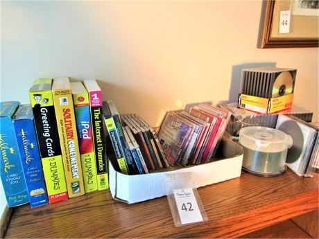 """Computer Games, Blank CD's & Cases, and """"For Dummies"""" Books"""