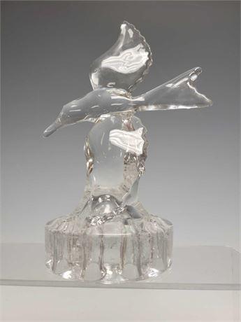 Flower Frog Glass Soaring Bird Seagull