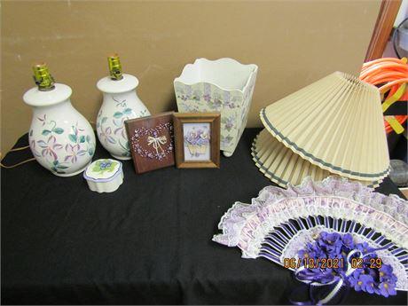 Violet Theme Decor