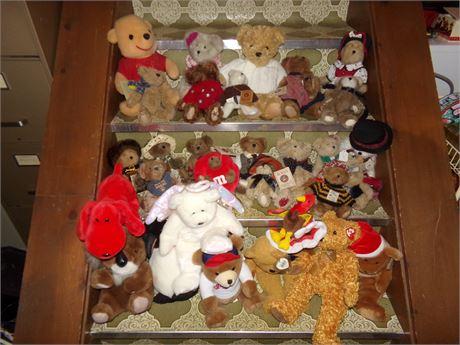 Boyd's Bears and Ty beanie babies
