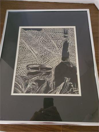 Beautiful Framed Scratch Art LOOK