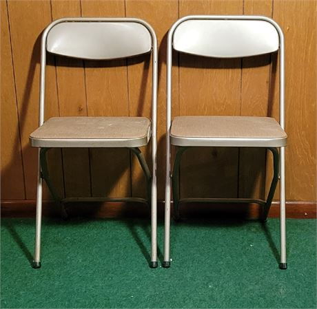 2 Card Table Folding Chairs