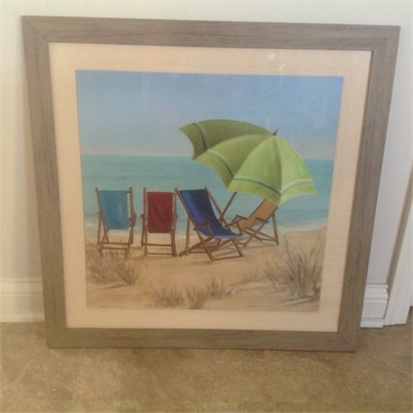 Carol Robinson Framed Beach Art Print