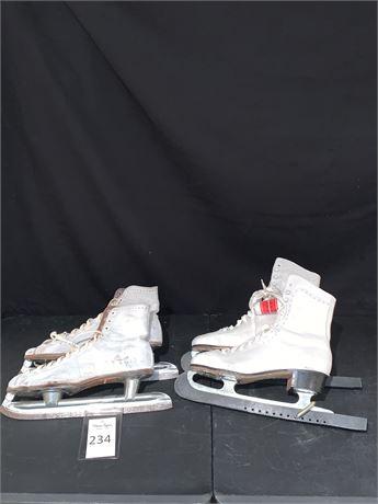 Vintage Nestor Johnson and Canadian Royal Ladies Ice Skates