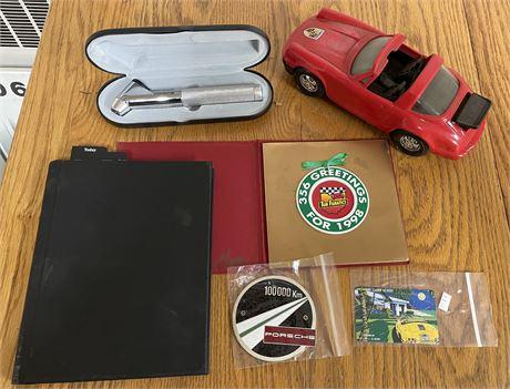 RARE Porsche 100,000 KM Early 911 Grille Badge & Other Porsche Items