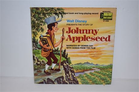RARE COVER-1971 Disneyland Records-Johnny Appleseed w/storybook Dennis Day