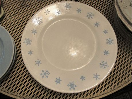 Corelle Snowflake Dinner Plates