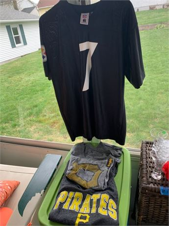 Pittsburgh Steelers #7 Jersey and Pirate shirts