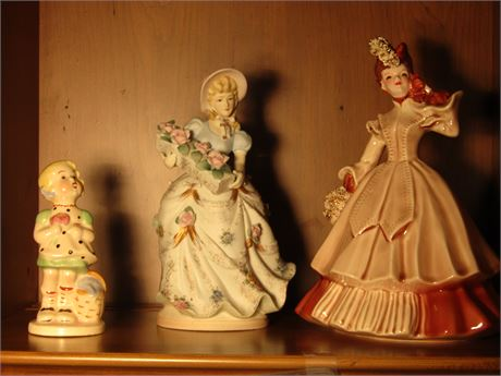 Vintage L'Amour China Lady Figurine Florence Ceramics Lady Figurine and More