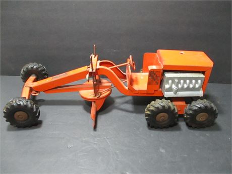 """Vintage 1950's Steel 18"""" Structo Mecahnical Toy Road Grader Rare Collectible"""