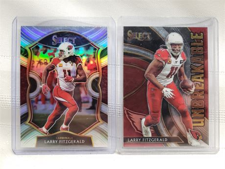 2 Larry Fitzgerald Select 2020 Cards