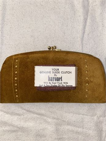 Baronet Suede Clutch and More