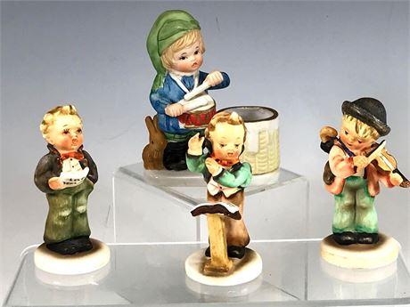 Porcelain Children Figurines and Toothpick Holder