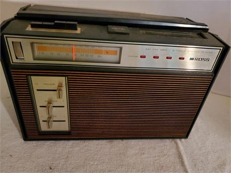 Vintage Ross 8842 AM/FM 8 Track Stereo
