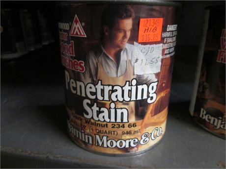 1 - Qts Benjamin Moore Penetrating Dark Walnut Interior  Stains