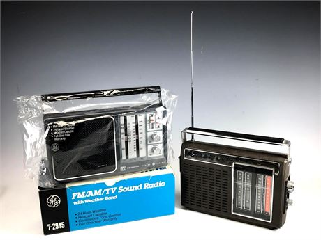 GE FM/AM/TV Sound Radio New in Box and Other Radio
