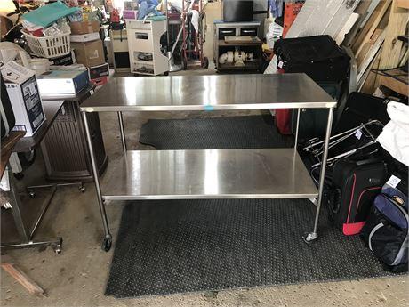 Pedigo Stainless Steel Medical Utility Cart