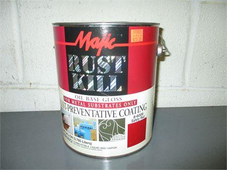 1 Gal Majic Rust Kill Safety Red Semi Gloss Multi Purpose Oil Base Enamel