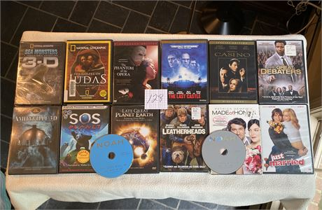 Popular Movies, 3-D Movies, and Religious DVD Lot