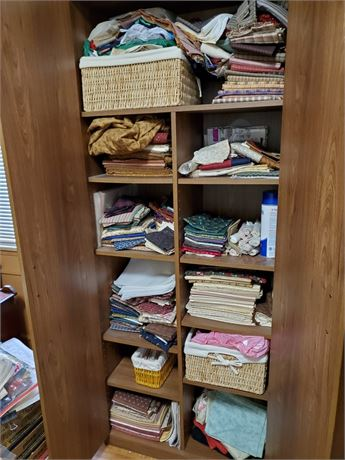 3 Storage Cabinets Full of Fabric SO MUCH FABRIC
