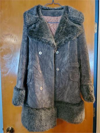 Vintage Faux Suede Coat