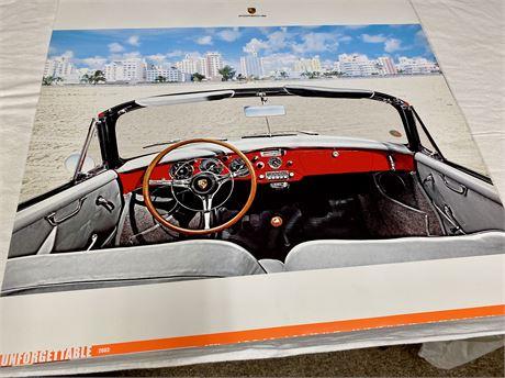 Very Cool Old Train Print & NEW 2003 Porsche Showroom Calendar