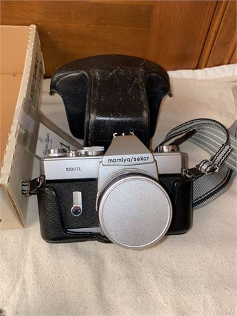 Mamiya Camera With Case & Accura Lens