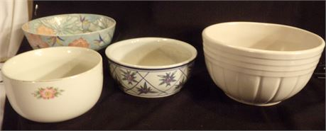 Assorted large bowls