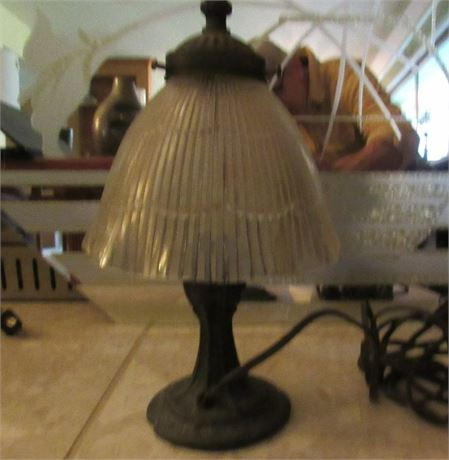 Small Table Lamp, Vintage Cast Metal Base