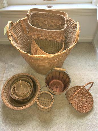 Assortment of Wicker Baskets