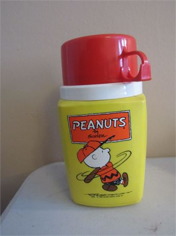 1950 Peanuts Thermos for Lunchbox