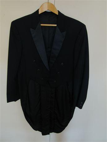 1960s Long Tails Tuxedo Jacket 42 S Richman Bros