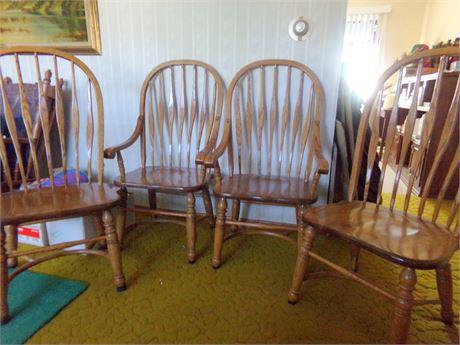 4 Beautiful Amish Made Wood Chairs