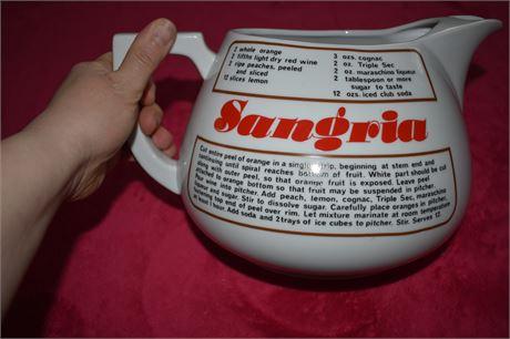 1970's Sangria Pitcher
