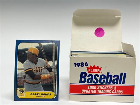 1986 Fleer Update Baseball Card Set