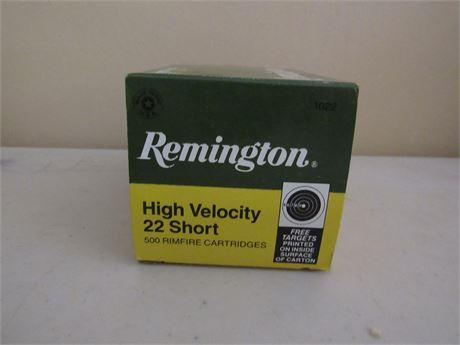 Remington 22 Short High Velocity 500 Rounds