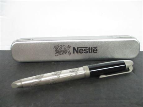 New Nestles Expensive Custom Award Advertising Collector Pen w/ Case
