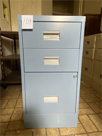 W.P. Johnson Company Blue Metal Standard Filing Cabinet