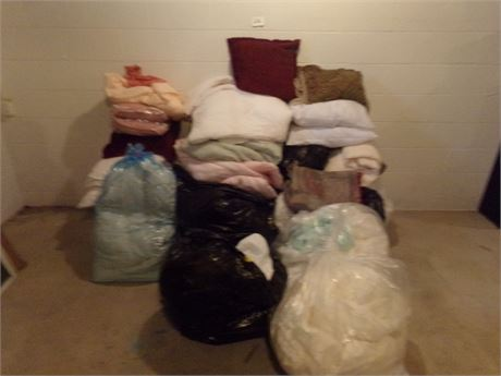 Large Bedding and linen cleanout