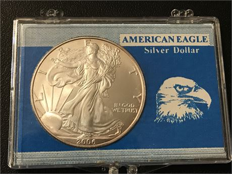 2006 United States Silver Eagle in Case