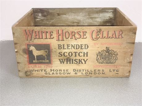White Horse Whiskey Crate