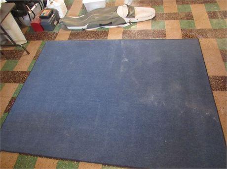 Medium Blue Area Rug