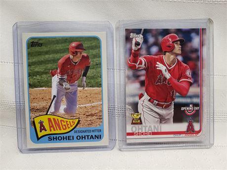 2 Shohei Ohtani Topps Cards