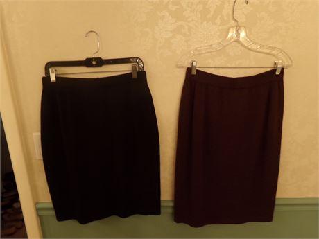 St John Caviar and Marie gray skirts