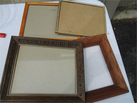 Nice Assorted 4 pcs 8 X 10  Picture Frames Lot