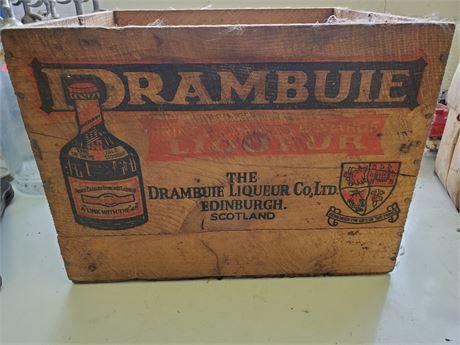 Vintage Drambuie Liqueur Wood Crate