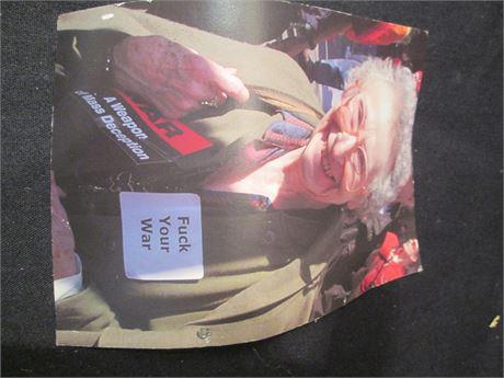 """Vintage Vietnam Era Grandma """"F#%* the War"""" Post Card"""