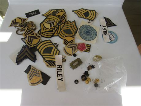 Military Patches & Pins Lot
