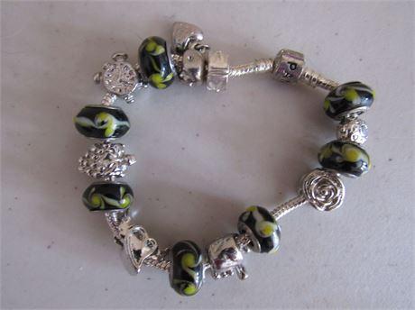 Pandora 925 Sterling Bead Bracelet