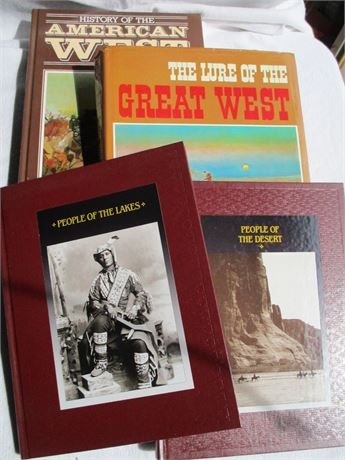 4 American West & Time Life Indian History Books Lot